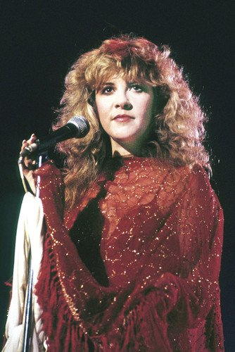 Stevie Nicks Fleetwood Mac Concert In Red 24x36 Poster Silverscreen