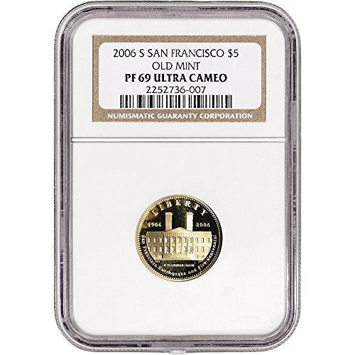 2006 S US Commemorative Gold Proof San Francisco Old Mint Non Edge-View Holder $5 PF69 NGC (San Francisco Old Mint Proof)