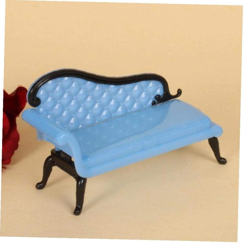 1PC casa de mu/ñecas en miniatura Muebles calesa sof/á-azul o p/úrpura color al azar
