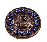Carpe Diem Hardware 883-12H Caché Escutcheon with Swarovski Crystals, Bronze