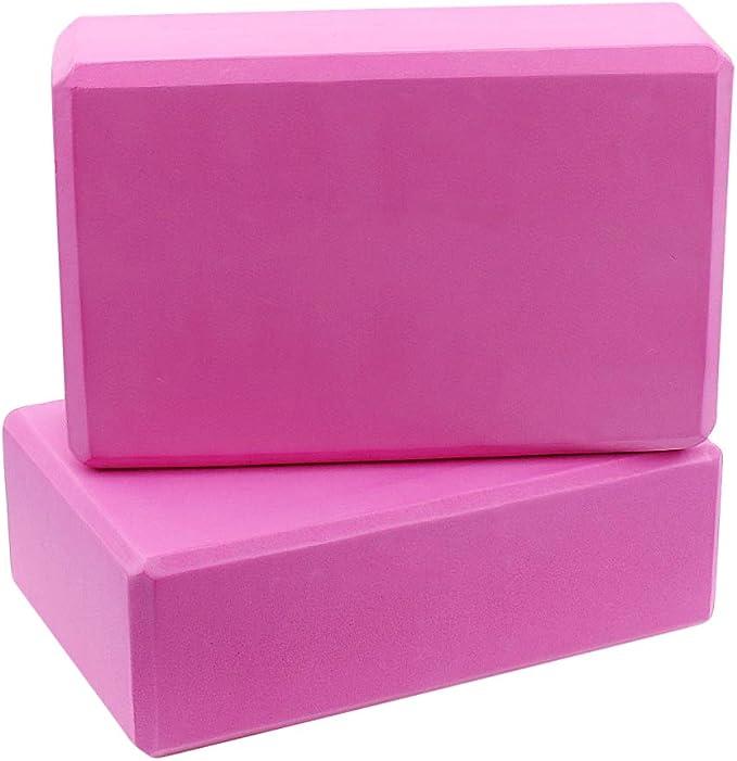 GOGO 2 Pack Yoga Blocks High Density EVA Foam Block