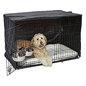MidWest iCrate Starter Kit | The Perfect Kit for Your New Dog Includes a Dog Crate, Dog Crate Cover, 2 Dog Bowls & Pet Bed | 1-Year Warranty on ALL Items 5