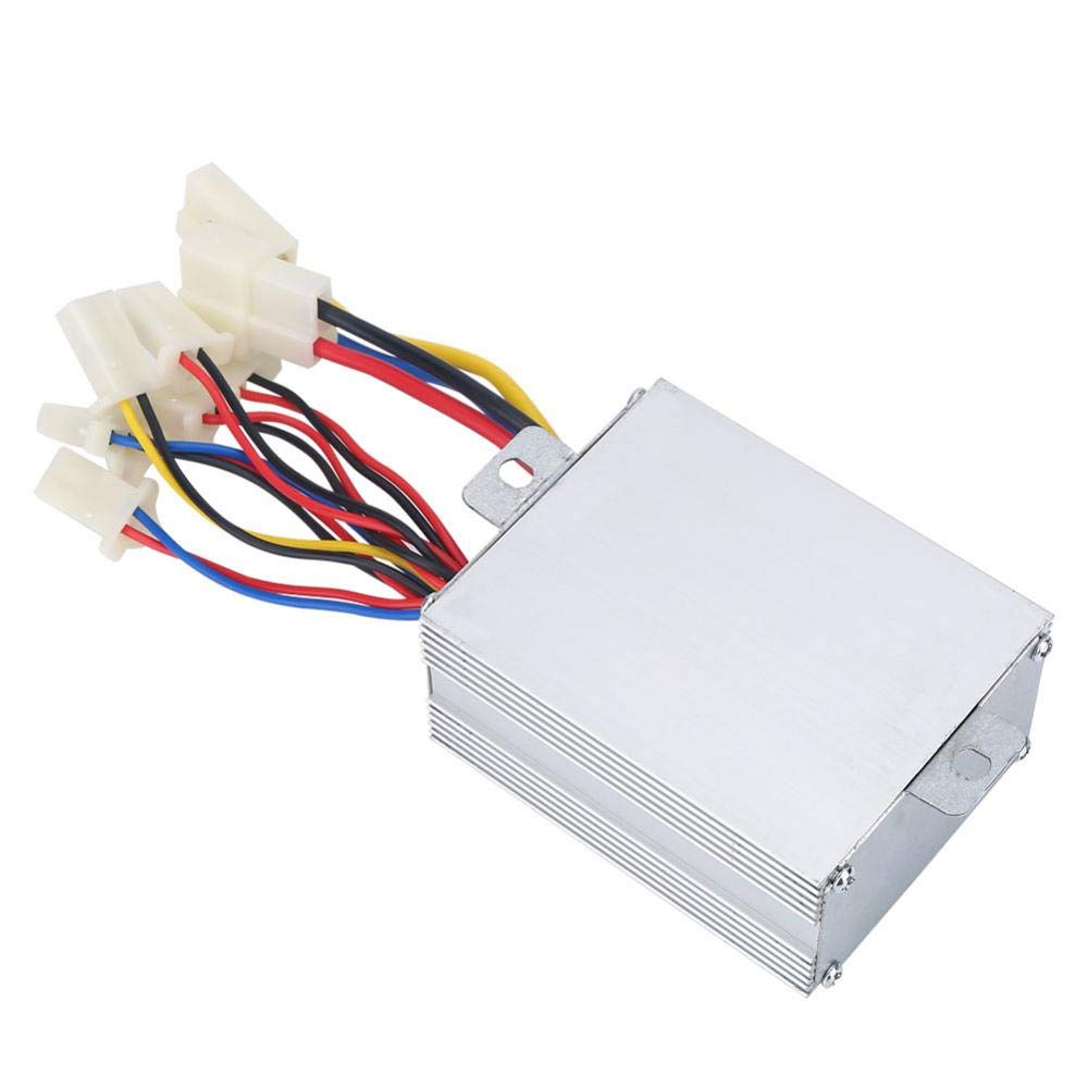 Brushed Controller Aluminium Alloy 24V 500W Motor Controller 3.26x2.55x1.45 inch Bike Motor for Electric Bicycle Scooter E-Bike