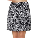 slimour Women Modest Running Skirt Travel Skirts with Pocket Swim Skirt High Waist with Shorts
