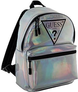 GUESS Damen Rucksack holografischer Rucksack mit Guess Logo, 33x22x11 cm (HxBxT)