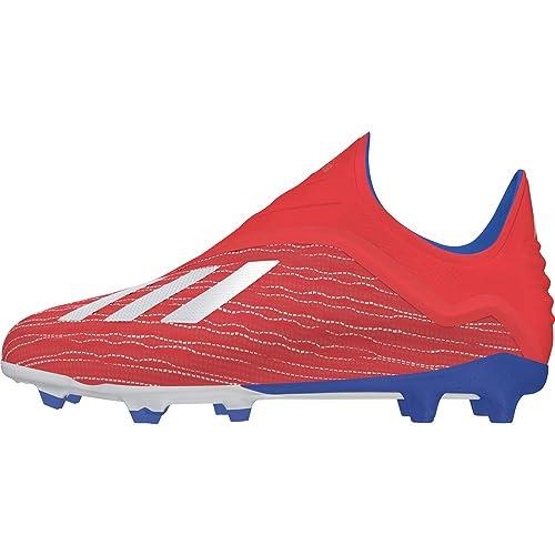 adidas Performance X 18+ FG Fußballschuh Kinder rotblau, 38