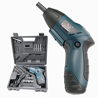 QST 4.8V Power Rechargeable Ni-Cd Cordless Electric Screwdriver Wireless Practical Handle Drill Tool Set DIY Automatic Batch Tool