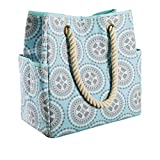 Fit & Fresh East Hampton Beach Bag, Large Insulated Tote for Women, Aqua