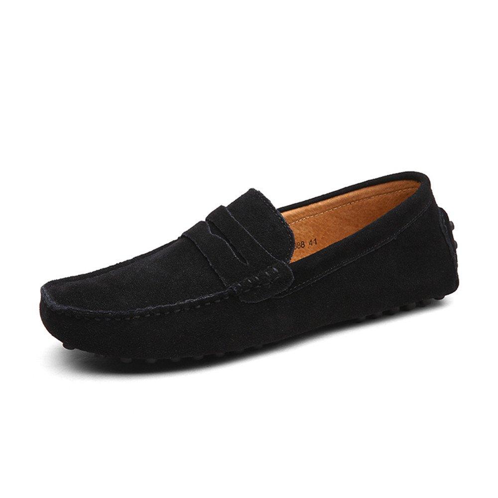 DUORO Mocasines de Piel Zapatos para Hombre Casual Planos Loafer