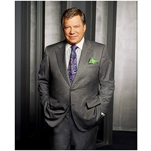 Boston Legal Cast Shot with William Shatner as Denny Crane Hands in Pockets 8 x 10 Photo