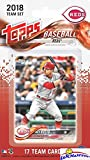 Cincinnati Reds 2018 Topps Baseball EXCLUSIVE Special Limited Edition 17 Card Complete Team Set with Joey Votto, Homer Bailey  & Many More Stars & Rookies! Shipped in Bubble Mailer! WOWZZER!