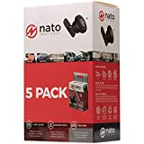 Nato Smart Mount - Magnetic Smart Device Holder Universal Adhesive (Black 5-Pack)