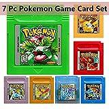 7 Pcs Pokemon GameBoy Color Games Cartridge Game