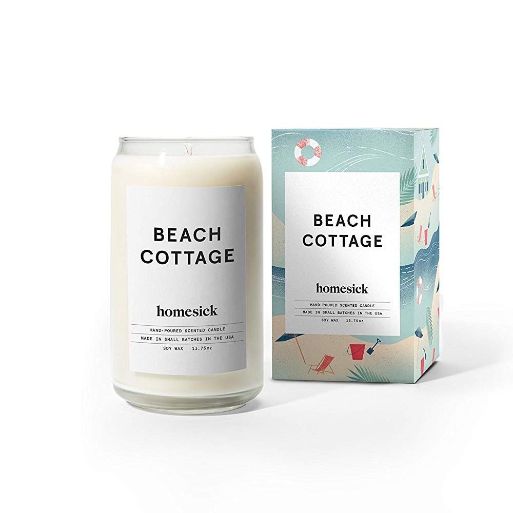 Homesick Scented Candle, Beach Cottage