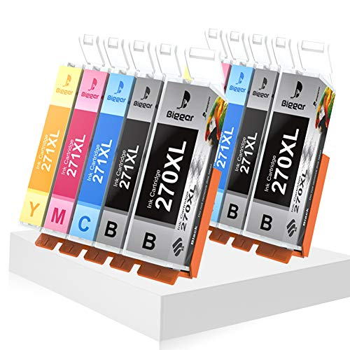 Bigger Compatible Ink Cartridge Replacement for Canon PGI-270XL CLI-271XL to use with PIXMA MG5720/5721/5722/6820/6821/6822/7720 (2 Large Black, 2 Small Black, 2 Cyan, 2 Magenta, 2 Yellow, 10-Pack)