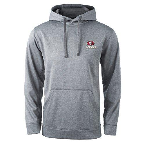 Dunbrooke Apparel NFL San Francisco 49ers Champion Tech Fleece Hoodie, 2x, Heather (49ers Sweatshirts)