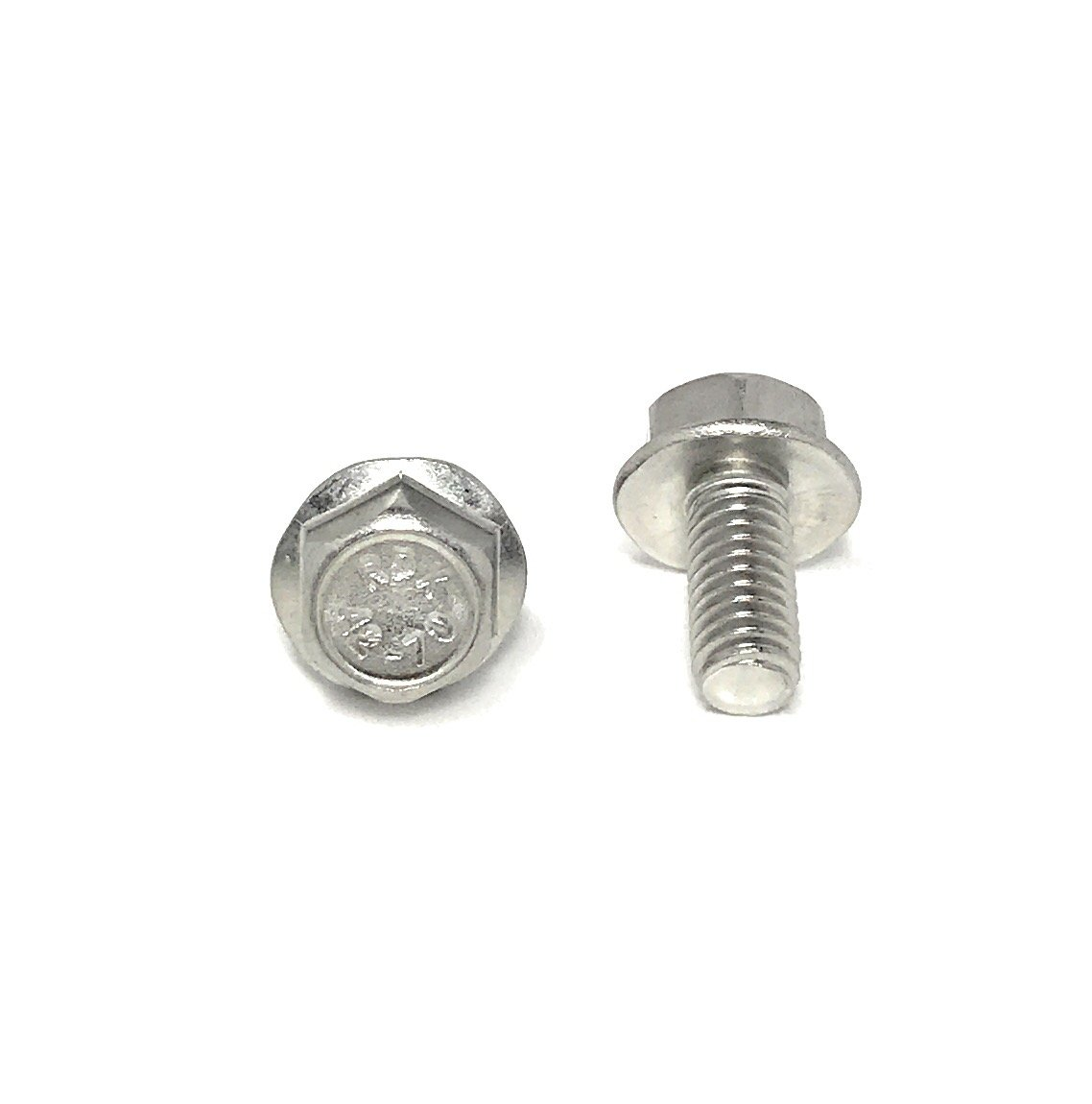 M6-1.00 x 12 Stainless Steel Flange Bolt DIN 6921 A2 Stainless Steel (25 Pieces) M6x12