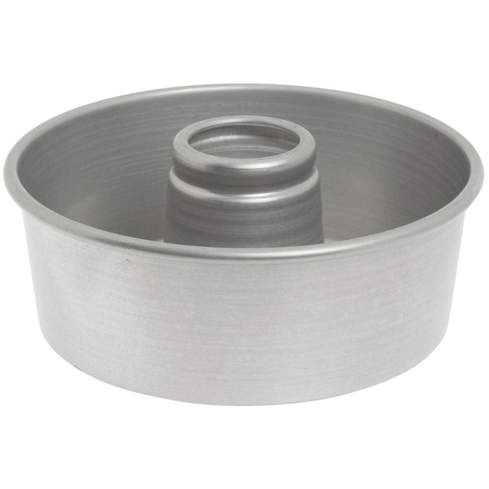 Bundy Chicago Metallic Aluminum Angel Food Cake Pan with AMERICOAT Glaze - 10'' Dia x 3 3/4'' D