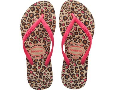 3b3100dc2a5e Havaianas Girls Kids Slim Fashion Sand Grey Animal Print Flip Flops Sandals   Amazon.co.uk  Shoes   Bags
