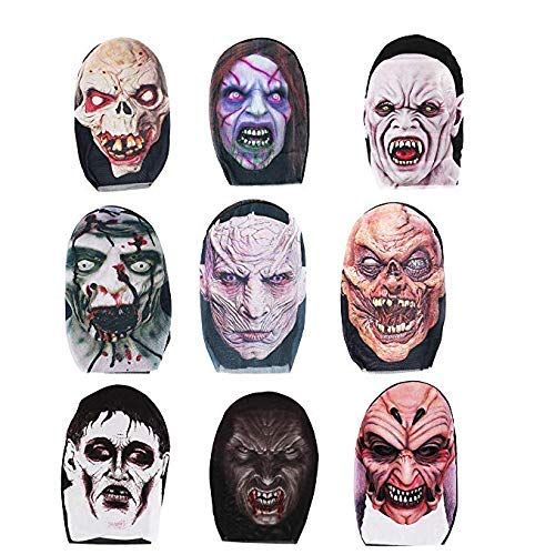 Creepy Scary Halloween Party Deluxe Halloween Costume Party Props Head Mask 6 randomised Random (6 pcs) -