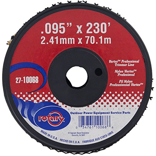 Grade Trimmer Line (Rotary # 10068 Vortex Trimmer line Black Commercial Grade #.095 Dia 230' Feet 1 LBS Spool)