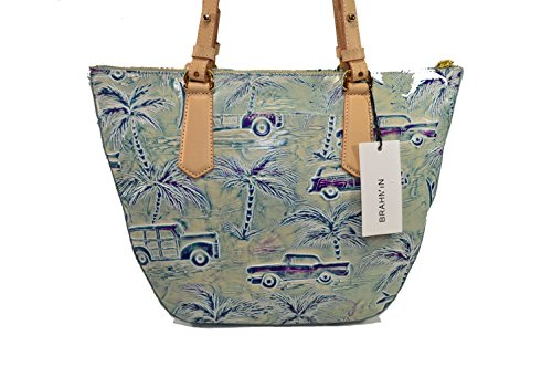 Brahmin Shoulder Copa Cabana Small Bag Blue Sky Cars Willa z4wrPx70qz