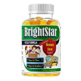 Kids Brain Focus Chewable Gummies Supplements(60 Gummies), Attention & Memory Help Formula for Childrens and Teens, Best Great Taste Calming MutliVitamins, Natural Omega DHA for Kids