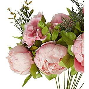 Leagel Fake Flowers Vintage Artificial Peony Silk Flowers Bouquet Wedding Home Decoration, Pack of 1 2