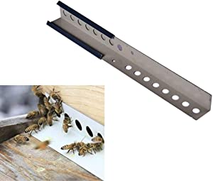 POLLIBEE Beehive Sliding Mouse Guards,Beekeeping Bee Hive Metal Entrance Reducer & Mouse Guards 8 Frame /10 Frame (3 Pack)