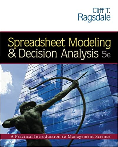 Spreadsheet modeling and decision analysis with cd rom and spreadsheet modeling and decision analysis with cd rom and microsoft project 2003 120 day version 5th edition fandeluxe Image collections