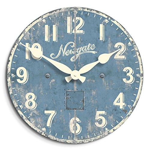 Circus Wall Clock (Newgate Ice Cream Factory Clock, Blue)