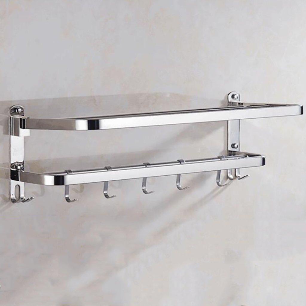 304ステンレススチールタオルホルダー穿孔浴室棚 (サイズ さいず : 800mm) B07CZBFF2F800mm