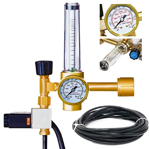 - MANATEE Co2 Regulator Hydroponics Emitter System with Solenoid Valve Accurate and Easy to Adjust Flow Meter Brass - Shorten up and Double Your Time for Harvesting