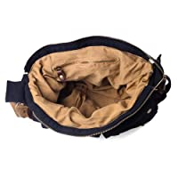 Kattee Leather Canvas Camera Bag Vintage DSLR SLR Messenger Shoulder Bag