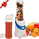 Secura 300W Personal Blender for Shakes and Smoothies | Stainless Blade | 2 (20 oz) Single Serving Bottles with Travel Lids