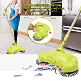 house cleaning broom - Automatic Hand Push Sweeper, LuckyFine 360 Rotary Automatic Broom Floor Dust Cleaning Sweeper Household Cleaner Mop Tool Green