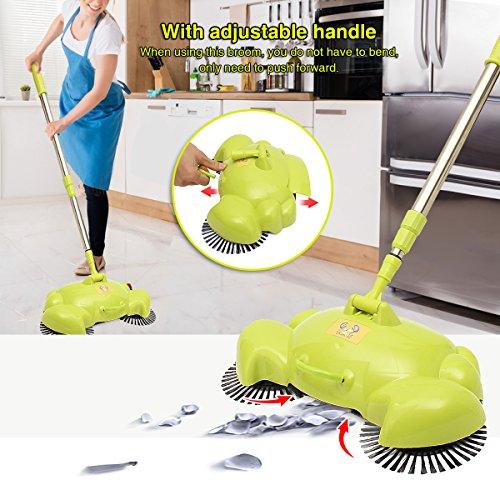 Automatic Hand Push Sweeper, LuckyFine 360 Ro…
