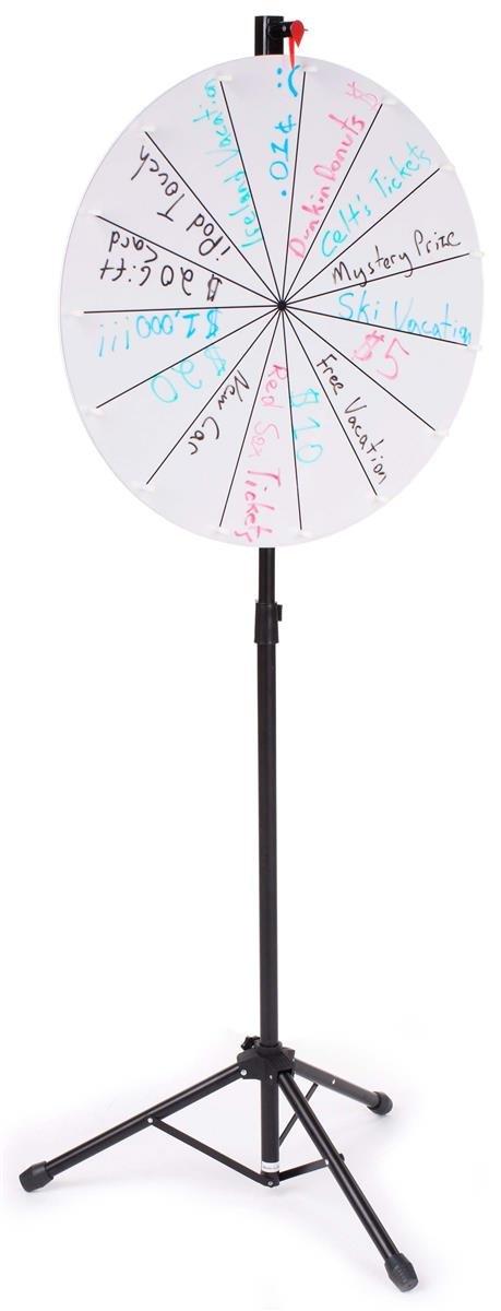 Displays2go Gloss White Acrylic Write-On Surface Prize Wheel