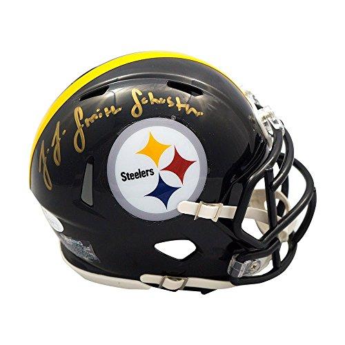 JuJu Smith-Schuster Autographed Steelers Speed Mini Helmet - JSA COA ()