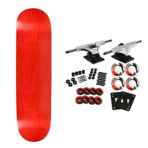 (Moose Complete Skateboard Stained RED 8.0