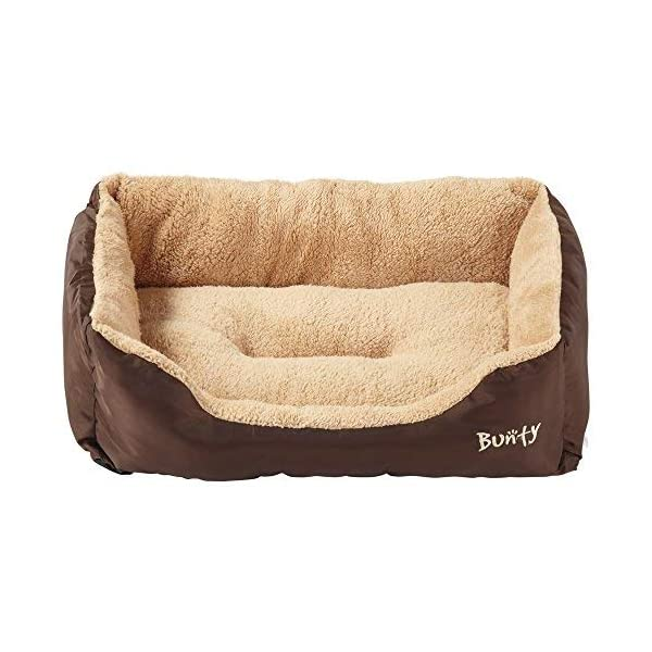 Bunty Deluxe Soft Washable Basket Bed Cushion with Fleece Lining for Dogs 4