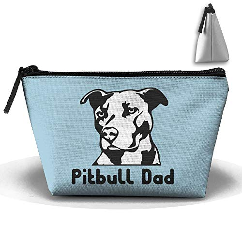 Louise Morrison Pitbull Dad Pen Stationery Pencil Case Cosmetic Makeup Bag Pouch