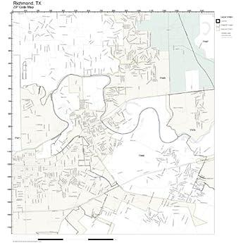 Richmond Tx Zip Code Map.Amazon Com Zip Code Wall Map Of Richmond Tx Zip Code Map Laminated