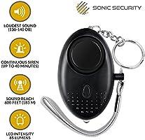 Sécurité Personnelle Alarme Keychain sécurité auto-défense Panique Viol Attaque 130 dB