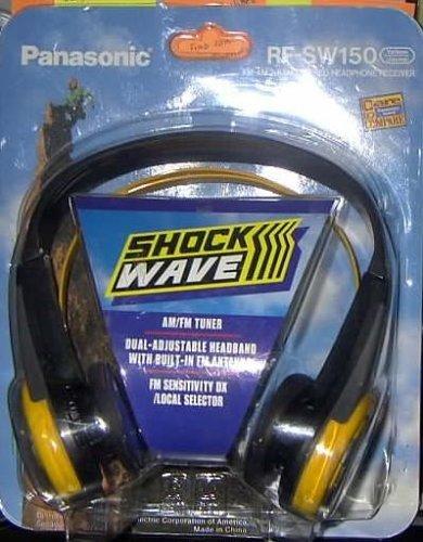 Shock Wave Panisonic Fm-am 2-Band Stereo Headphone Receiver