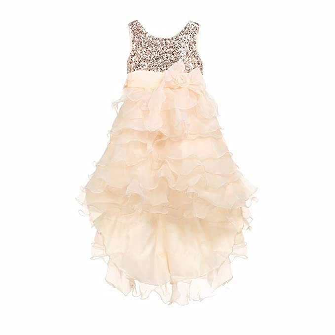 Amazon.com: Vestido infantil Dsood 2019 para niñas con lazo ...