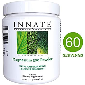 INNATE Response Formulas - Magnesium 300 Powder, Clinical Dose of Magnesium with Organic Spinach, 60 Servings (132 grams)