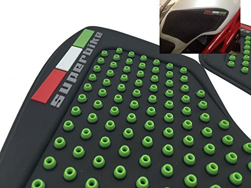 3D Green Dots Gas Fuel Tank Traction Pad Anti Side Slip Protector For Ducati Monster 696 / 796 / 1100 / S / EVO 2009-2014