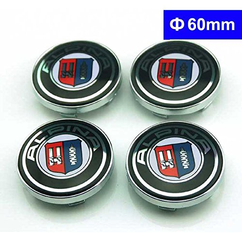 4pcs W160 60mm Car Styling Accessories Emblem Badge Sticker Wheel Hub Caps Centre Cover ALPINA BMW X1 X3 X5 X6 E46 E39 E36 E60 E34 E90 E65 E70 E53 E87