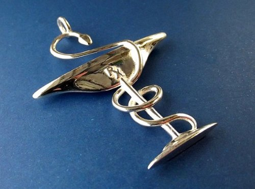 Serpent Bowl - Bowl of Hygeia Pendant for Pharmacists